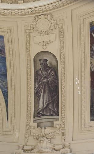 "Fresco painting ""Explorer Cabot"" located in rotunda of..."