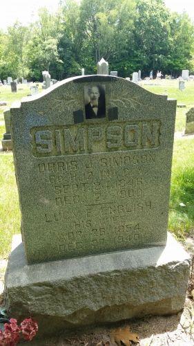 Orris J. Simpson gravesite
