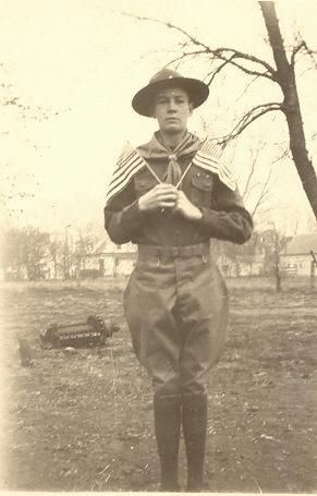 William Glen Cornwell, boy scout, age 15