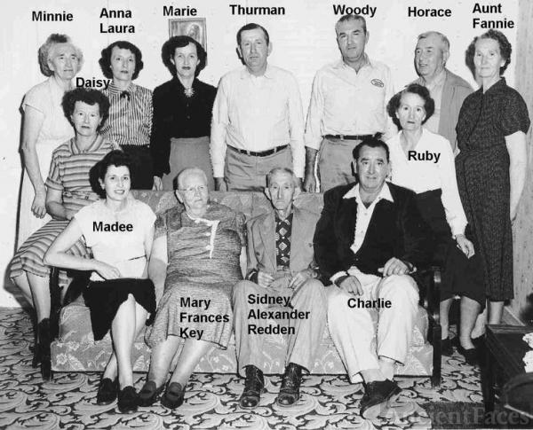 Mary F. Key - Sidney Redden Family