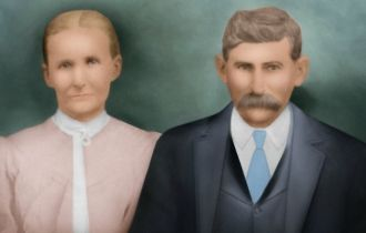 Luticia (Reedy) and Marion  McGee, 1885