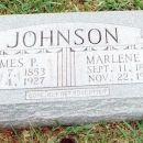 Tombstone of James Preston and Marlena Jane Johnson
