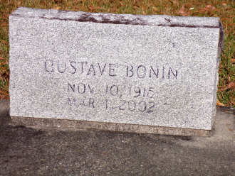 Gustave Bonin Gravesite