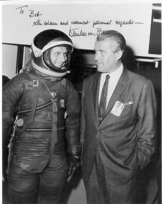 Robert Gingras in an early NASA flight suit