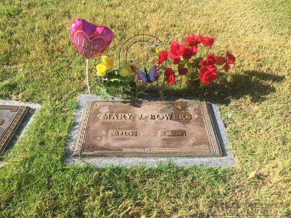 Mary Bowers gravesite