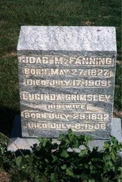 Lucinda & Joab M. Fanning Head Stone