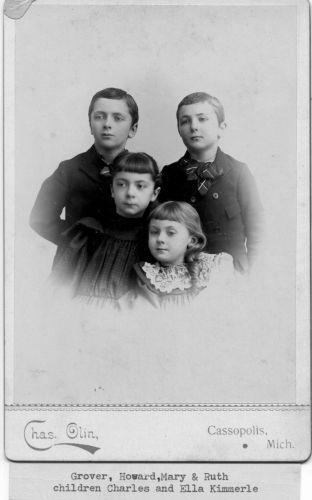 Grover, Howard, Mary & Ruth Kimmerle, Michigan c1893