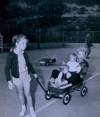 Eve Arden and children