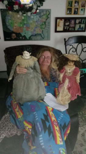 Roberta Freimuth and doll