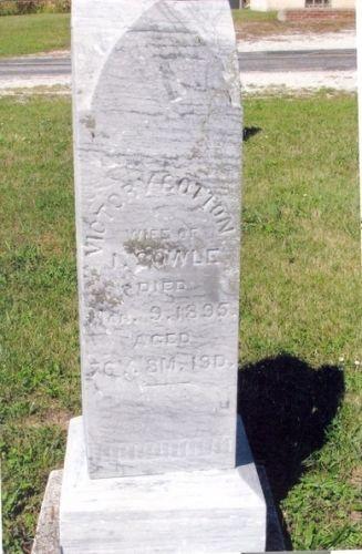 Victory Cotton gravestone
