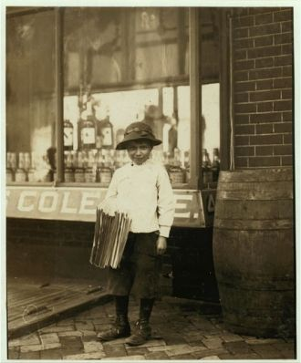 James Morgan, Newsboy