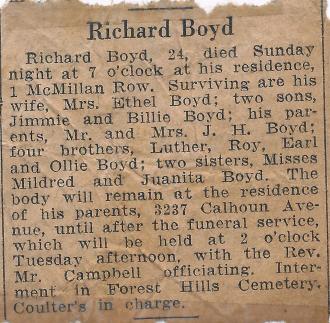 Richard Boyd Obituary