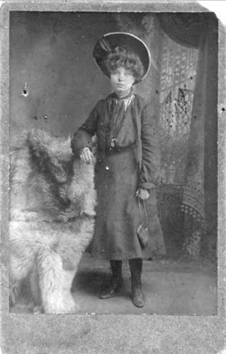 Girl in Large Hat