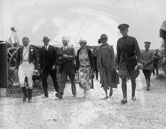 Mrs. Coolidge & Mrs. John G. Sargent at circus, 5/15/25