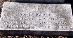 John Millard Barnes gravesite