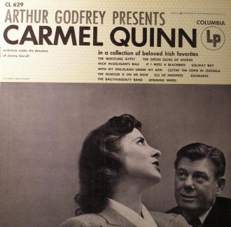 Carmel Quinn with Arthur Godfrey.