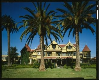 EAST FRONT - Winchester House, 525 South Winchester...