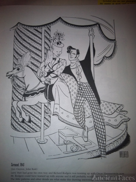 Jan Clayton by Al Hirschfeld