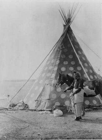 A Blackfoot tepee