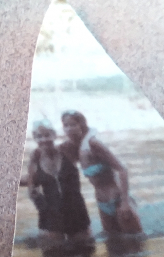 Elaine A. (Lowrey) Zane and me Jana Rieser Schaefer camping