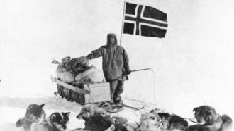 Roald  Engelbregt Amundsen in Antarctica