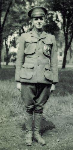 Ralph Dietz in Uniform