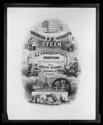 Wagner & McGuigan's Steam Lithographic Print...