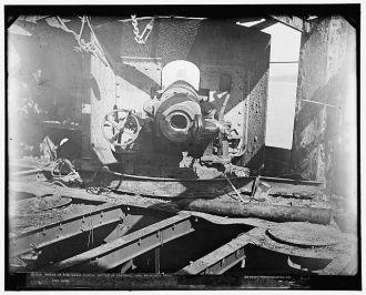 Wreck of the Maria Teresa, Battle of Santiago, 1898,...