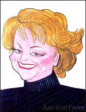 Marcia Lewis caricature