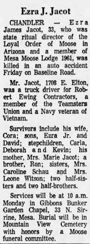 Ezra James Jacot Obituary