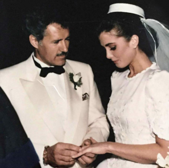 Alex & Jean Trebek on their wedding day