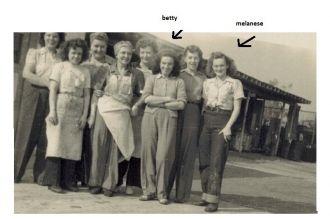 Melenese and Betty Roberge, California 1947