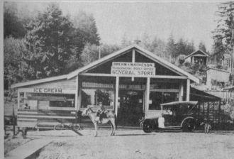 Brehm & Matheson General Store, Washington c1920