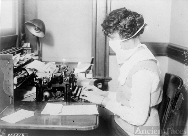 Typist - Influenza Epidemic New York City