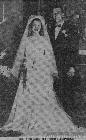 Wedding Photo Of Mr. And Mrs. Maurice Campbell