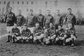 U.S. soccer team at Bonn