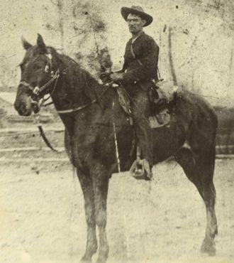 John W. Head on his horse