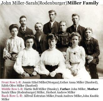 Sarah (Rodenburger) and John Miller Family
