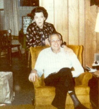 """""""Lonie"""" Leona Bivins (Only daughter of Marion and Lillie Bivins) and her husband Ruben Ellis White"""