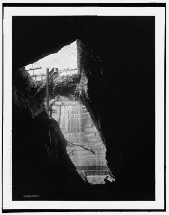 Marble quarry, near Rutland, Vt., looking out