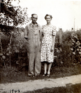 Jesse and Lura Roberts Been at their farm