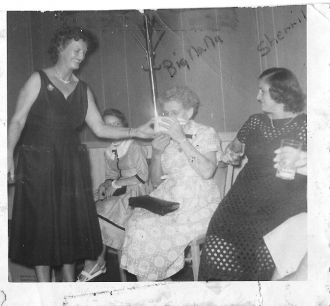 My moms baby shower 1956