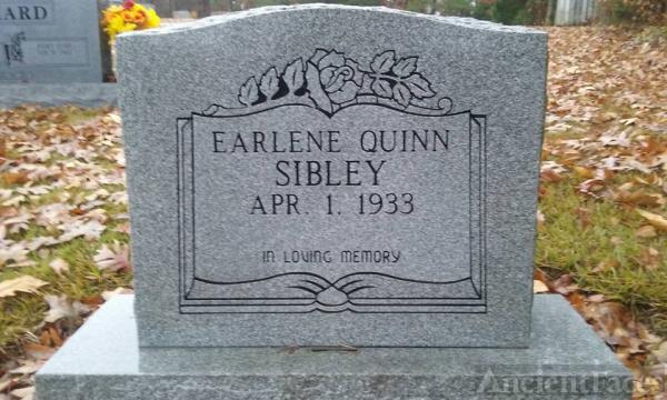 Earlene Quinn Sibley Headstone