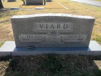 Era C. and David T. Viard gravestone