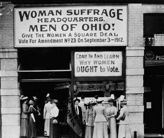 Woman suffrage headquarters in Ohio