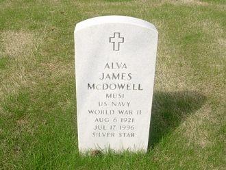 Alva James McDowell Headstone