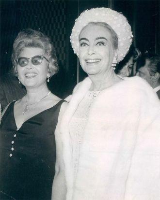 Sheilah Graham and Joan Crawford