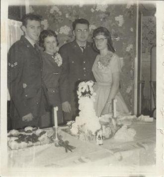 Donald Morris & Gloria Bubar Morris Wedding Picture-1960