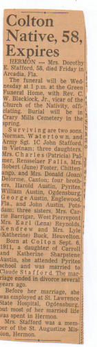 """Dorothy Etta """"Dot"""" (Austin) Stafford Obituary"""