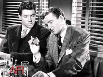Farley Granger and Robert Walker.